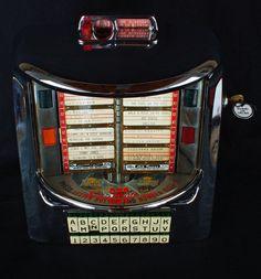 1955 SEEBURG 200 WALL BOX JUKEBOX SELECTOR ART DECO MACHINE AGE DINER ERA FINE