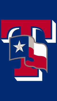 Texas Rangers Cap Logo - The state flag of Texas waving on a red T with white drop shadow. Worn on the Texas Rangers batting practice cap starting in Worn previously on their BP cap from Texas Rangers Cap, Rangers Baseball, New York Yankees Baseball, Tx Rangers, Texas Rangers Wallpaper, Texas Tech Baby, Baseball Shirts, Baseball Teams, Baseball Stuff