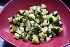 Cucumber Salad | Vegetarian Recipe Club | The biggest collection of tried and tested Vegan and Vegetarian recipes on the internet