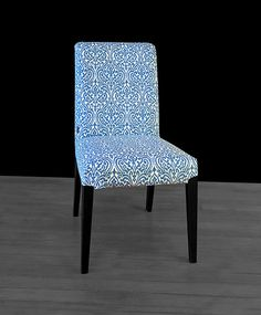 Regal Print IKEA HENRIKSDAL Dining Chair Cover Indian Sri Lanka Blue Indigo