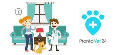 PRONTOVET24 - l'applicazione per chiamare il veterinario ProntoVet24 per iPhone e Android è l'applicazione che vi permette di chiamare al volo un veterinario per una visita o per un intervento urgente.  Grazie alla bella e comoda interfaccia, potrete reg #android #iphone #veterinario #animali