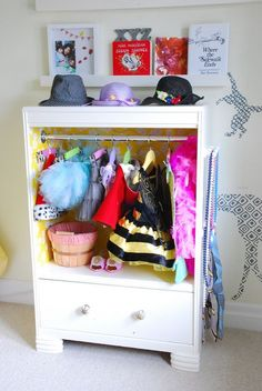 mommo design: 8 RECYCLING IDEAS - Old dresser as dress up closet