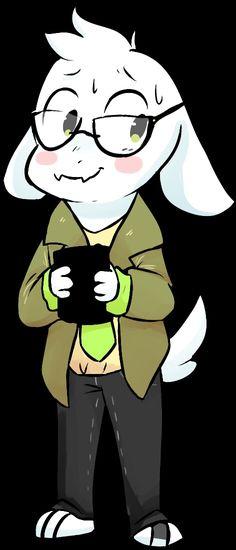 Cute nerdy Asriel