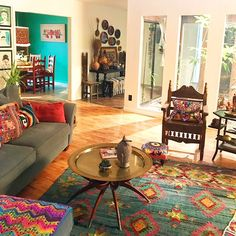 Today I Bring You The Eclectic Bohemian Thrifted And Vintage Accented Home Of Channing Allard Link In Bio And Let Me Know What Indian Elements You Spotted