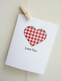 Houndstooth Heart Card