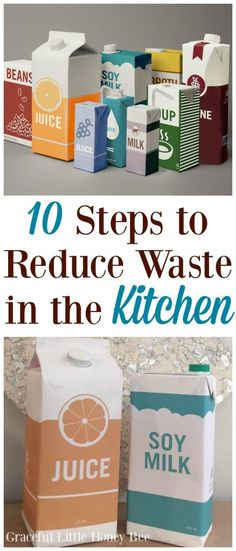 10 Steps to Reduce Waste in the Kitchen - Graceful Little Honey Bee Save Money On Groceries, Ways To Save Money, Money Saving Tips, Saving Ideas, Reduce Waste, Zero Waste, Reduce Reuse Recycle, Repurpose, Frugal Tips