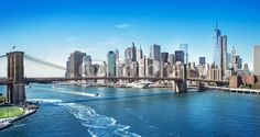 Add a sweeping view of the Big Apple to your walls with the Manhattan New York wall mural. Take in the sights of the Hudson River, Brooklyn Bridge, and the NYC skyline. Free US Shipping. Bridge Wallpaper, New York Wallpaper, View Wallpaper, Photo Wallpaper, Amazing Wallpaper, Wallpaper Murals, Wall Murals, Brooklyn Bridge Pictures, Brooklyn Bridge New York