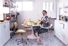 In my kitchen 1950s Kitchen, Portraits, Home, Design, Style, Swag, Head Shots, Ad Home