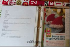 Christmas binder idea and printables for staying organized through the holidays.