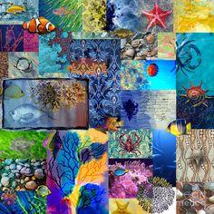 Wonderful digital painting of an undersea collage!