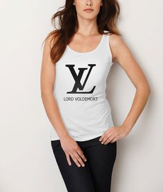 Lord Voldemort LV harry potter Women White Tank Tops by CahyaAbadi, $22.75