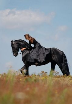 She cradled herself on the horse. It ran faster and faster. Her dress flowed in the wind, and she went on an adventure... -Gabby Will