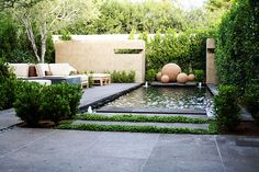 Mossman Brothers Pools - Green Issue Driveway Landscaping, Modern Landscaping, Modern Landscape Design, Contemporary Landscape, Backyard Garden Design, Garden Pool, Garden Living, Home And Garden, Outdoor Rooms