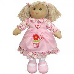 Flower Apron Rag Doll