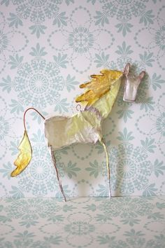 horse  paper and wire ornament by bookeesue on Etsy, $28.00