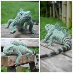 Mañana, Iguana ... Yonezawa Nami's Incredible #crochet #Iguana