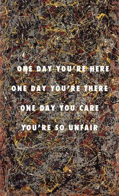 I just can't crack your code No. 5, 1948 (1950), Jackson Pollock /  Holy Grail, Jay-Z ft. Justin Timberlake