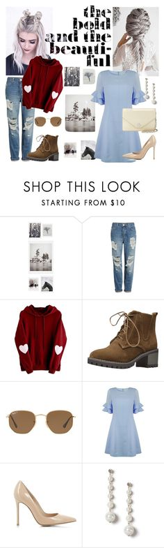"""Caught in a lie"" by n-cashewuh ❤ liked on Polyvore featuring DENY Designs, Topshop, Ray-Ban, Jovonna, Gianvito Rossi, Miss Selfridge, Tory Burch and bts"