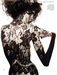 I can't wait to do this!       Ellen Von Unwerth #lace #editorial