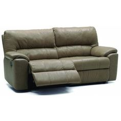 Palliser Furniture Yale Reclining Sofa Type: Manual, Upholstery: All Leather Protected - Tulsa II Jet