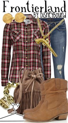 Frontierland by disneybound. -Wish I could dress in all these Disney inspired outfits everytime I go to D-land!!!!