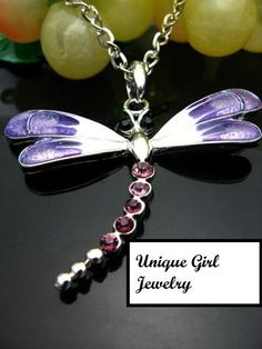 Various Dragonfly Necklaces by UniqueGirlJewelry on Etsy, $4.00