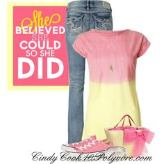 Casual Pink and Yellow-Cute Purse :)