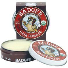 Badger Hair Pomade - medium hold with great shine #crueltyfree