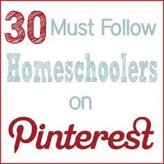 30 homeschooling moms who love Pinterest. #homeschool #hsbloggers