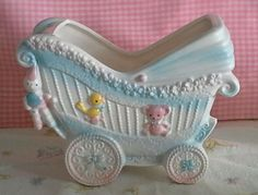Darling vintage baby / nursery planter.