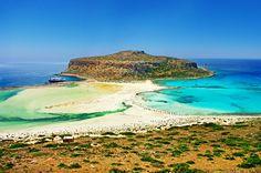 Balos Beach in Crete, Greece Ways To Travel, Places To Travel, Places To Visit, Trekking, Santorini, Beautiful World, Beautiful Places, Balos Beach, Hyundai Creta