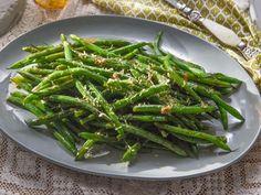Zesty Lemon Green Beans Recipe   Tia Mowry   Cooking Channel
