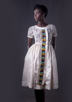 oh my goodness - i LOVE what christie brown is doing with these delicate, gorgeous pairings of waxprint and lace. afromantic, indeed!