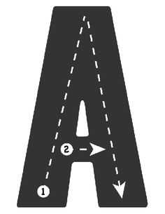 Drive the Alphabet Highway - Tracing Roads Letter A (2) - Road Collection http://www.thealphabet.xyz