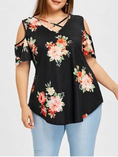 Cheap Fashion online retailer providing customers trendy and stylish clothing including different categories such as dresses tops swimwear. - May 26 2019 at Plus Size T Shirts, Plus Size Blouses, Plus Size Tops, Plus Size Dresses, Plus Size Outfits, Modest Fashion, Fashion Dresses, Dresses Uk, Curvy Fashion