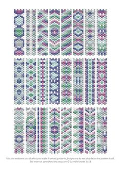 Carrier Bead Patterns, Odd Count Peyote, Six-Colour Patterns, Full Word Charts, Colourway 3 Carrier beads need strips 7 beads wide. Full Word Charts included. 27 pages Stitches used: Odd count peyote There are lots of techniques to manage odd count peyote. My favourite is this one by