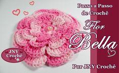 Passo a Passo de Crochê Flor Bella por JNY Crochê