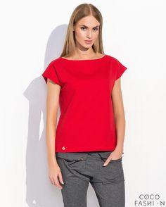 Red Classic Plain Ladies Tshirt- http://www.siboom.es/ladies-t-shirt-plain-short-sleeved-v_ofertas.html  