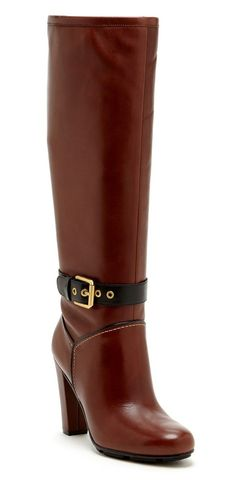 Contrast Buckle Tall Boots / Rockport