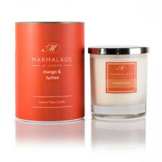 This Marmalade of London Mango and Lychee Candle is a luxuary white frosted glass candle with a rich, fruity accord with dominant notes of mango & lychee. http://www.a-choice-of-gifts.co.uk/giftshop/prod_3154382-Marmalade-of-London-Mango-and-Lychee-Glass-Candle.html