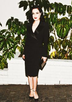 Dita von Teese at W Magazine's pre-Golden Globes party at Chateau Marmont in West Hollywood,CA, 08.01.2015