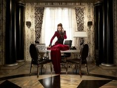 Regina is fabulous as always as the Evil Queen in her chambers Once Upon A Time  copyrighted by the American Broadcasting Company