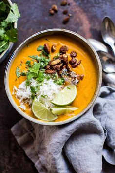 Soup season has returned! The post Creamy Thai Carrot Sweet Potato Soup. appeared first on Half Baked Harvest. Soup Recipes, Vegetarian Recipes, Cooking Recipes, Healthy Recipes, Potato Recipes, Carrot Recipes, Vegan Soup, Healthy Soup, Paleo