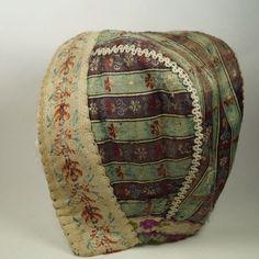 Antique Child's Silk Bonnet 18th Century Georgian Dress Silk 1765