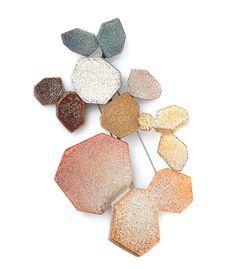 Kaori Juzu Brooch: Mare Mea, 2012-2013 Enamel, copper, 14k gold, silver 2.3 x 7.2 x 3.1cm  Funaki Award for Contemporary Jewellery Exhibition.  © By the author. Read    Klimt02.net Copyright   .