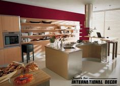 designs of Italian kitchen and cuisine