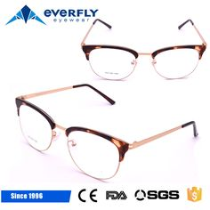 Wenzhou metal temple glasses frames fashion TR90 optical spectacle glasseyes frames for women