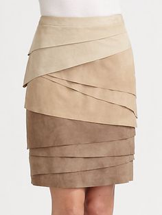 Ralph Lauren Black Label - Suede Skirt If this were just below the knee it would be perfect!!!!!!!!!!