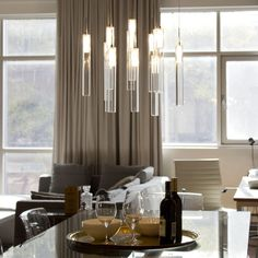 Shop BAZZ Lume Multi Pendant with Tube Shades at Lowe's Canada. Find our selection of pendant lights at the lowest price guaranteed with price match. Dining Lighting, Bathroom Interior Design, Interior, Interior Design Software, Home Decor, Interior Sliding French Doors, Pendant Lighting, Interior Design Colleges, Rustic Interiors