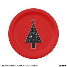 Christmas Tree of DOOM Paper Plate
